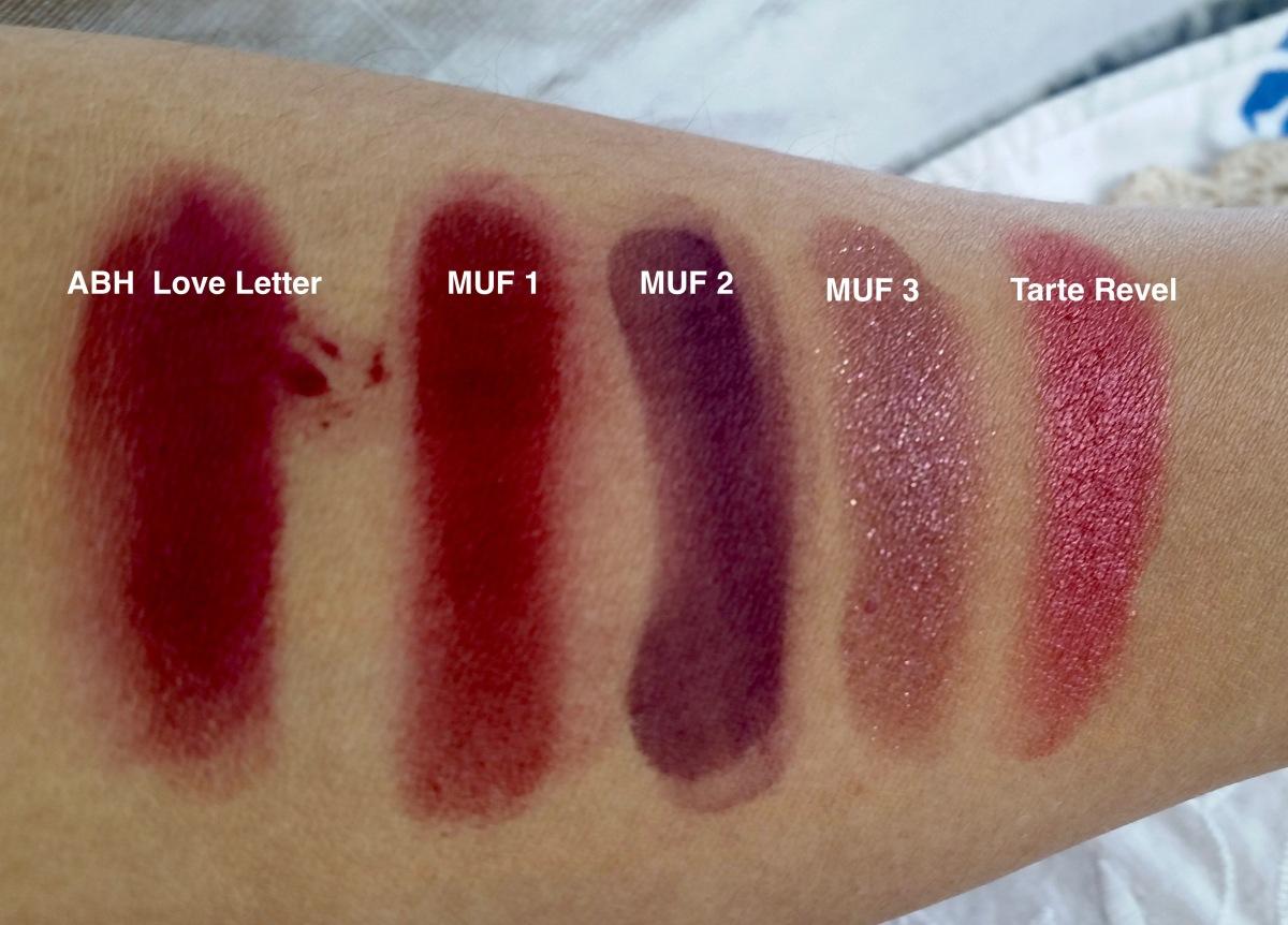 Berry Eyeshadow: Makeup Forever, Tarte and Anastasia BeverlyHills